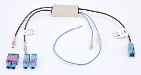 Cavo Adattatore Fakra ISO Bianco Per Antenna Autoradio vw Audi RENAULT BMW